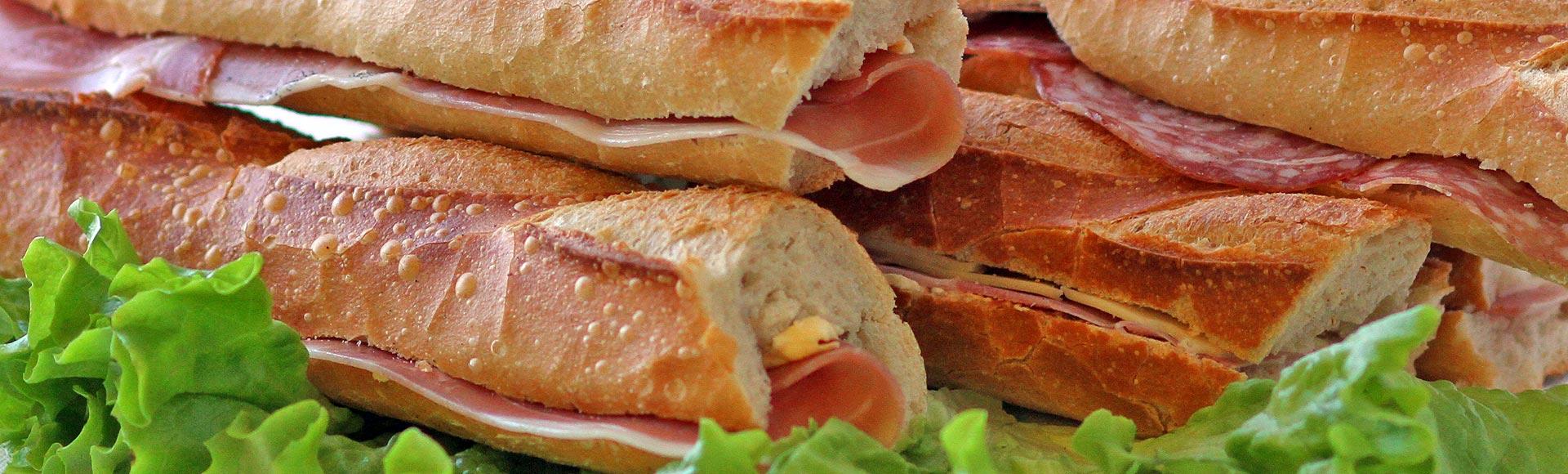 Pause déjeuner, sandwicherie, tartes salées